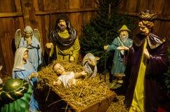 Nativity scene. Or the crib Stock Photos