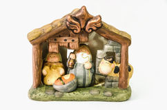 Nativity scene. Decorative nativity scene with joseph, mary and jesus christ. Belen, nacimiento stock images