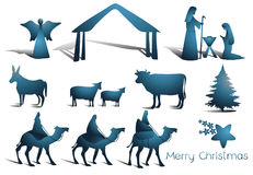 Nativity scene elements Stock Photo