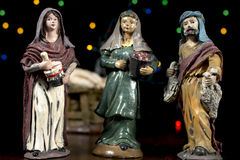 Nativity scene figurines. Christmas traditions. Stock Photo