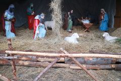 Nativity scene: gifts of the magi Royalty Free Stock Photography