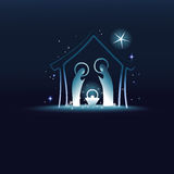 Nativity scene with Holy Family Stock Image