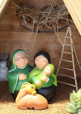 Nativity scene with the holy family from Bolivia in Latin Americ Stock Image