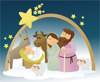Nativity scene with Holy Family Royalty Free Stock Image