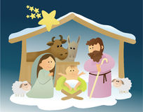 Nativity scene with Holy Family Royalty Free Stock Images