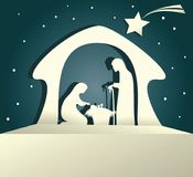 Nativity scene with Holy Family Royalty Free Stock Photos