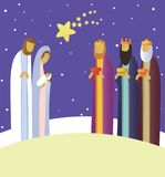 Nativity scene with Holy Family Stock Photos