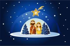 Nativity scene with Holy Family Stock Photo