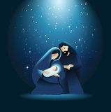 Nativity scene with Holy Family Royalty Free Stock Photography