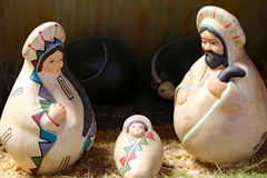 Nativity scene with the holy family in Latin American style Royalty Free Stock Photography