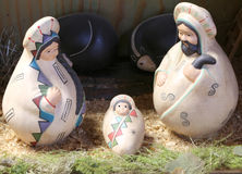Nativity scene with the holy family in Latin American style Stock Photography