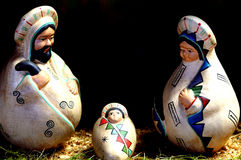Nativity scene with the holy family in Latin American style Stock Image
