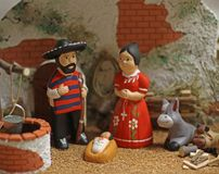 Nativity scene with Holy Family in Mexican version 4 Stock Photography