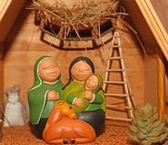 Nativity scene with Holy Family in South American style Stock Photos