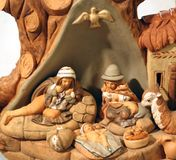 Nativity scene with Holy Family in South American style Stock Image