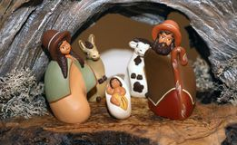 Nativity scene with Holy Family in South American style Stock Photography