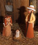 Nativity scene with Holy Family in South American version 4 Royalty Free Stock Photos