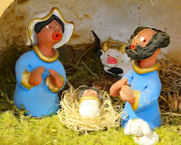Nativity scene with the holy family to Brazil in Latin American Stock Images