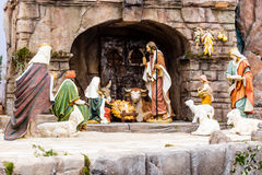 Nativity scene in Italy Royalty Free Stock Images