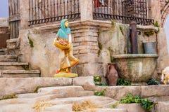 Nativity scene in Italy Stock Photo