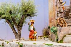 Nativity scene in Italy Stock Image