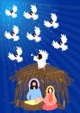Nativity Scene  Stock Images