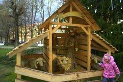 Nativity scene,Karlovy Vary Royalty Free Stock Photo