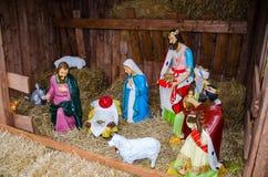 Nativity scene. Or manger scene, or crib Royalty Free Stock Photography