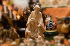 Nativity Scene. With Mary, Joseph and baby Jesus Stock Images