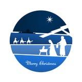 Christmas time - Nativity scene. Nativity scene with Mary, Joseph, baby Jesus and three kings Stock Photography