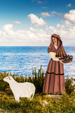 Nativity Scene on the Mediterranean Sea Royalty Free Stock Photos