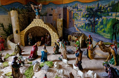 Nativity scene vintage with painting Stock Photography