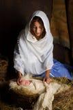 Nativity scene reenactment Royalty Free Stock Image