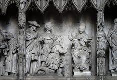 The Nativity scene sculpture Royalty Free Stock Photo