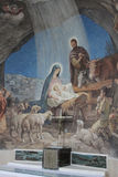 Nativity Scene in Shepherds Field Church, Bethle Royalty Free Stock Photography