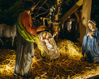Nativity scene on the streets of Strasbourg Stock Image
