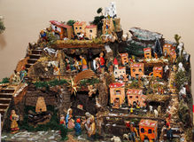 Nativity scene. The timeless appeal of traditional Italian Nativity Royalty Free Stock Photography