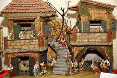 Nativity scene. The timeless appeal of traditional Italian Nativity Stock Images