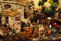 Nativity scene. The timeless appeal of traditional Italian Nativity Stock Photography