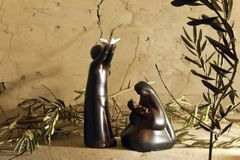 Free Nativity Scene With Peace Message Stock Photos - 161376913