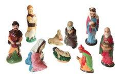Nativity scene - XXL. Nativity scene figurine isolated on white Royalty Free Stock Photos