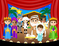 Nativity_schoolplay Royaltyfria Foton