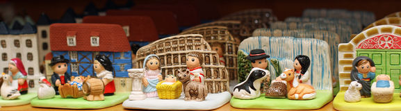 Nativity set from around the world in religious goods store 3 Stock Images