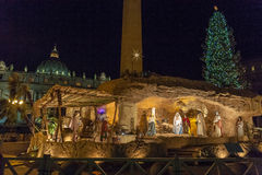 Nativity set, San Pietro Basilica, Italy Royalty Free Stock Photo