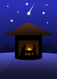 Nativity silent night Stock Photography