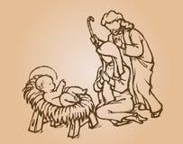 Nativity Sketch Royalty Free Stock Photography