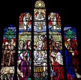 The nativity in stained glass Royalty Free Stock Image
