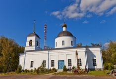 Nativity of the Theotokos church (1836). Osechenki, Russia Stock Images