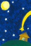 ιερή σκηνή νύχτας nativity Χριστο&upsil Στοκ Φωτογραφία
