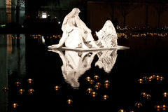 Nativity on the water Stock Images